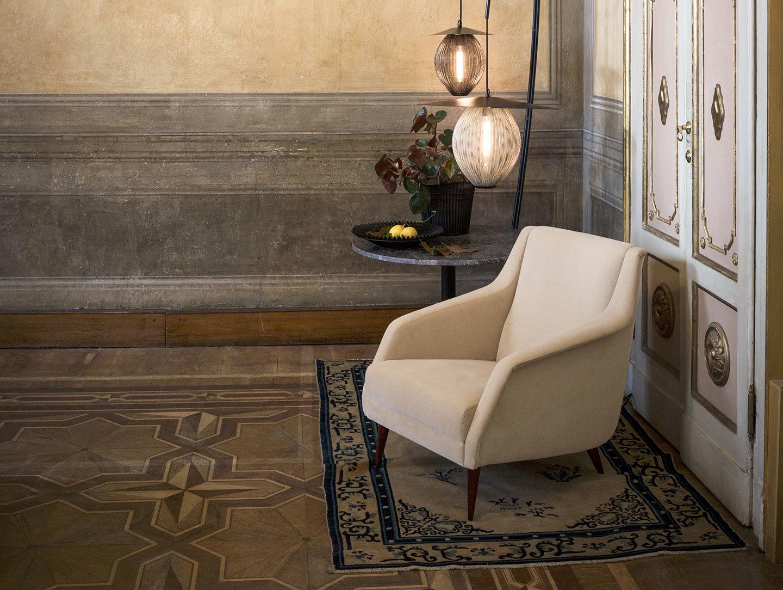 Gubi Cdc 1 Lounge Chair Lounge Table Mategot Flower Pot Mategot Bowl Satellite Pendant