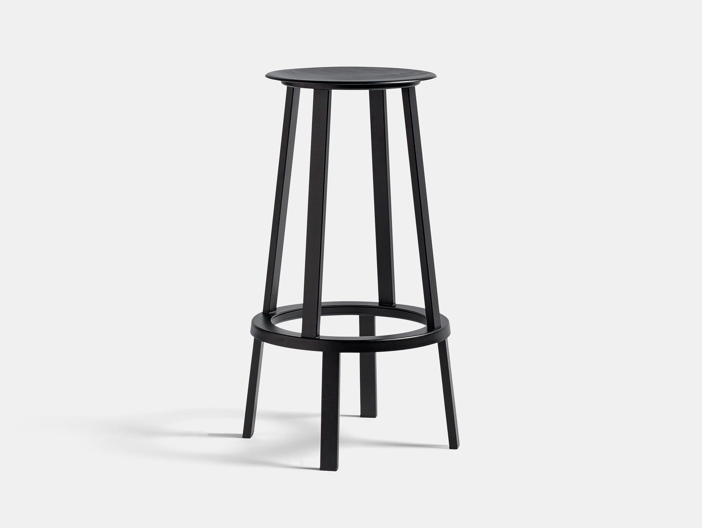 Hay Revolver Bar Stool High Black