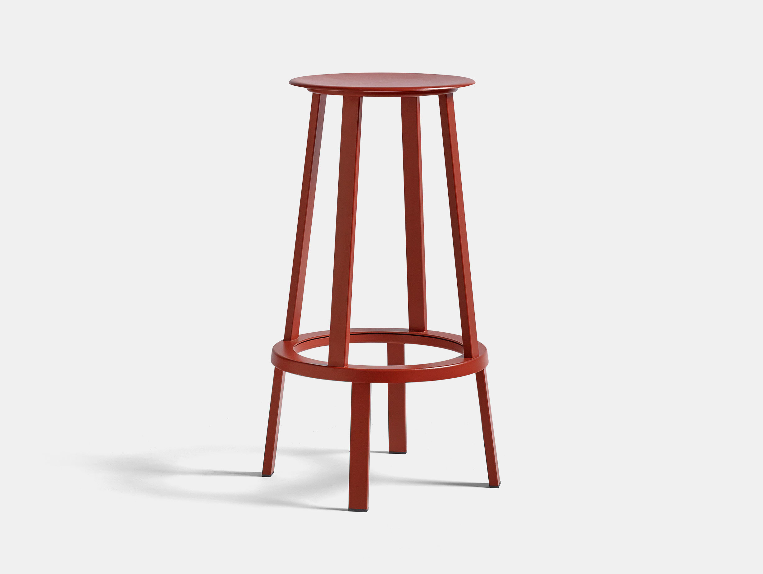 Hay Revolver Bar Stool High Red