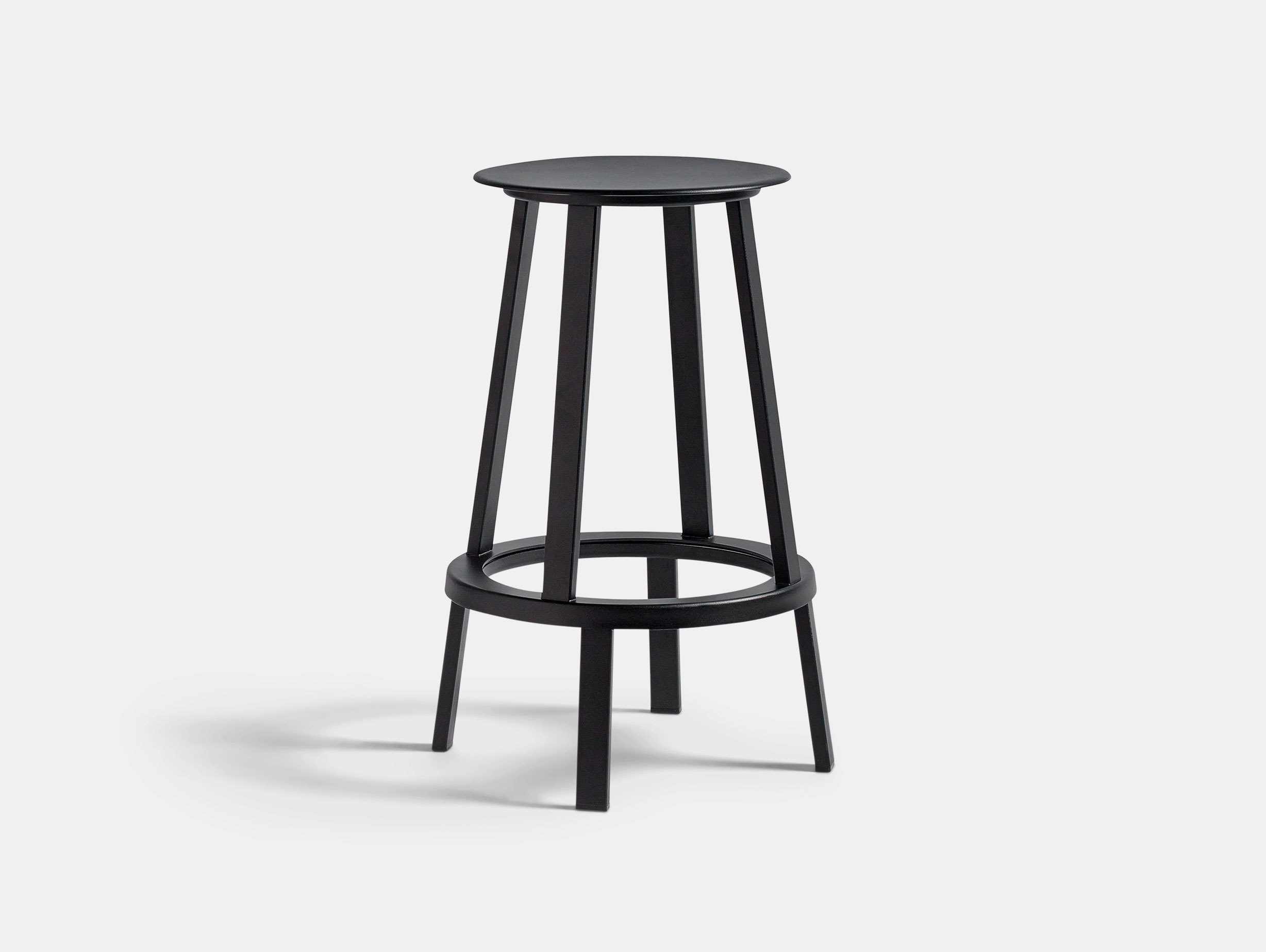 Hay Revolver Bar Stool Low Black