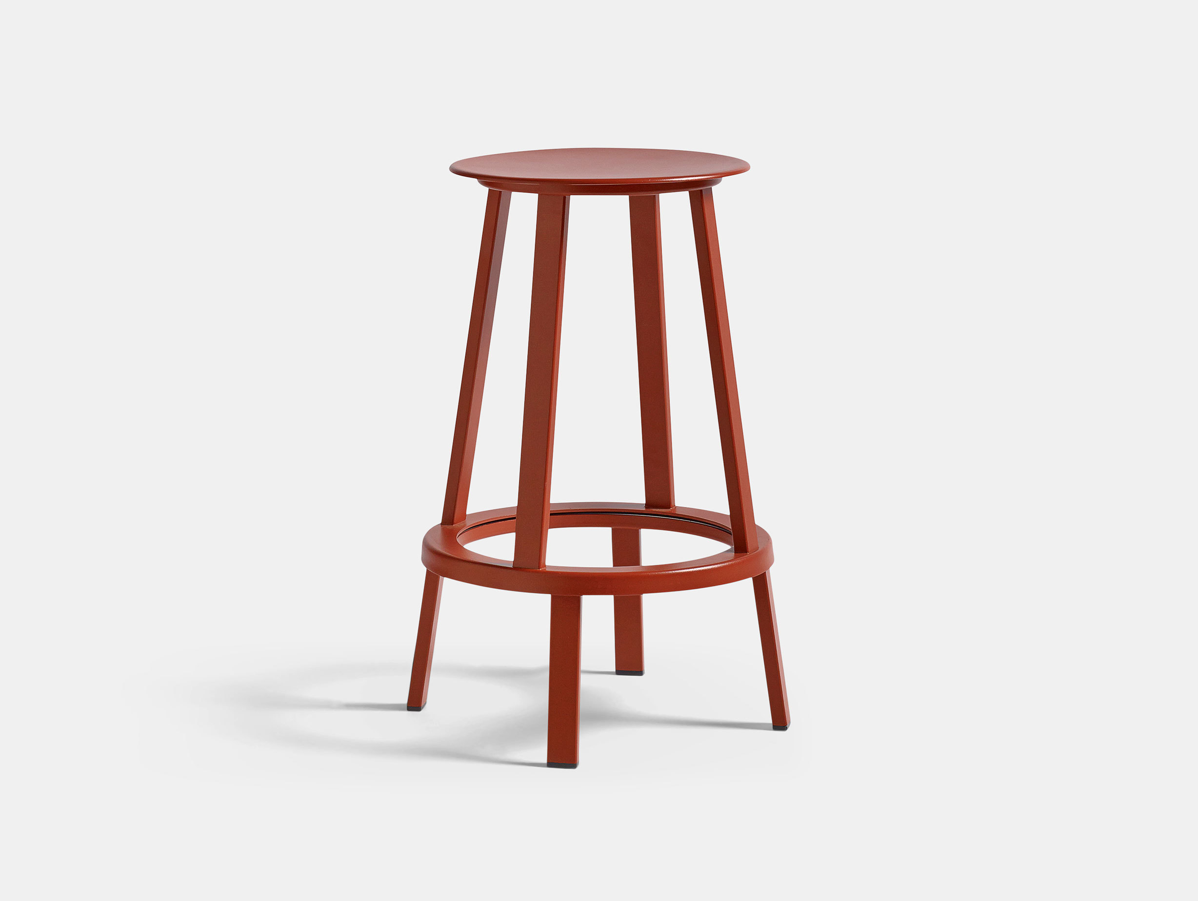 Hay Revolver Bar Stool Low Red
