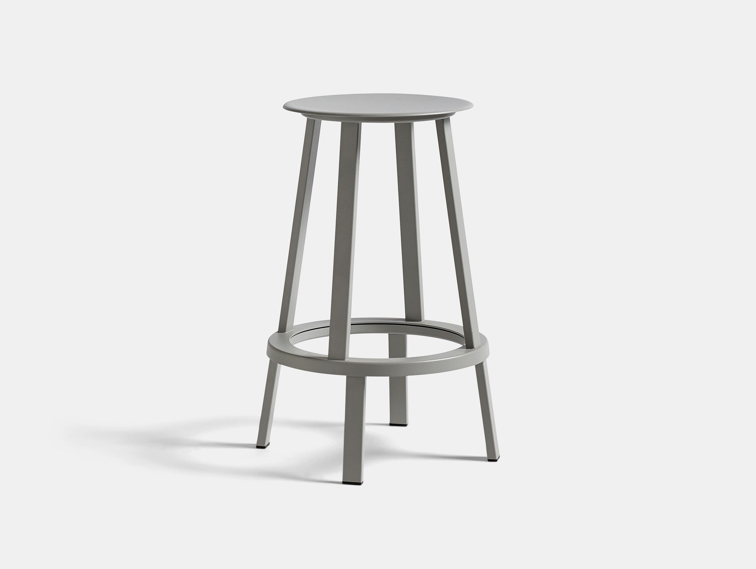 Hay Revolver Bar Stool Low Sky Grey