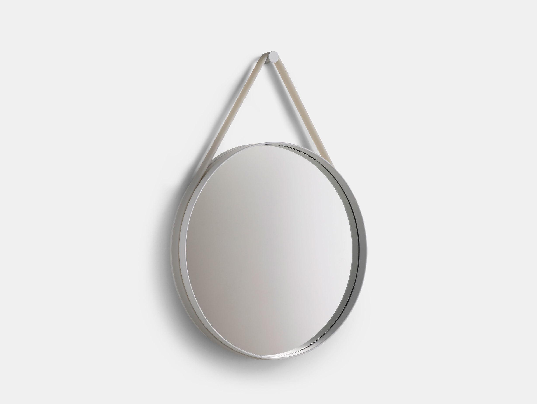Hay Strap Mirror Grey
