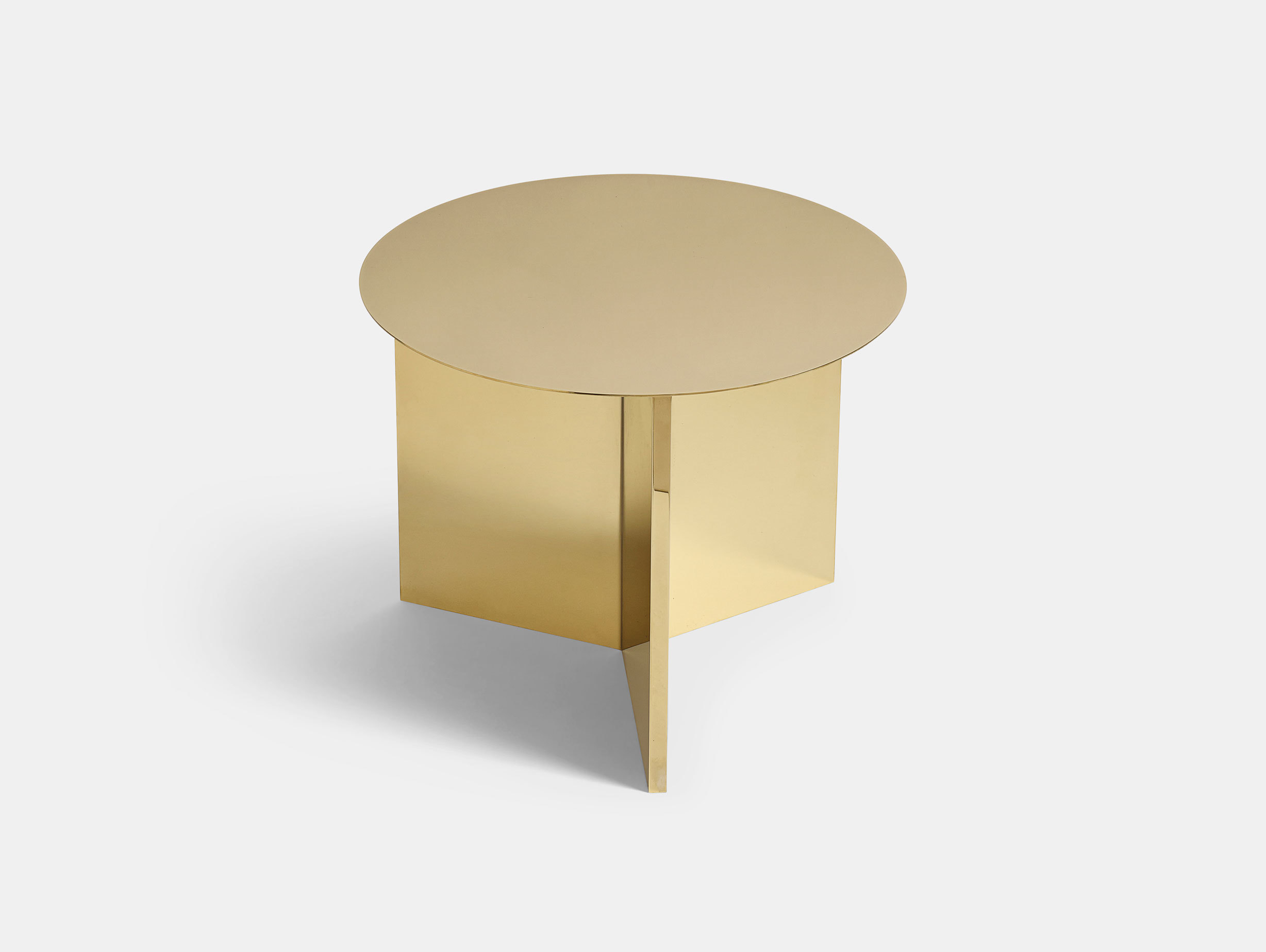 Hay Slit Table Round Brass