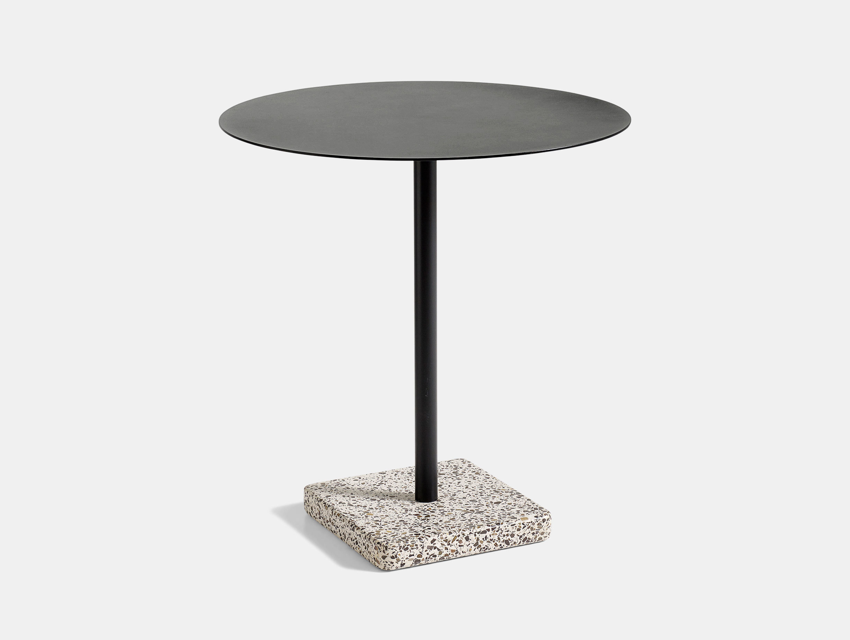 Hay Terrazzo Table Round Grey Base Charcoal Top Daniel Enoksson