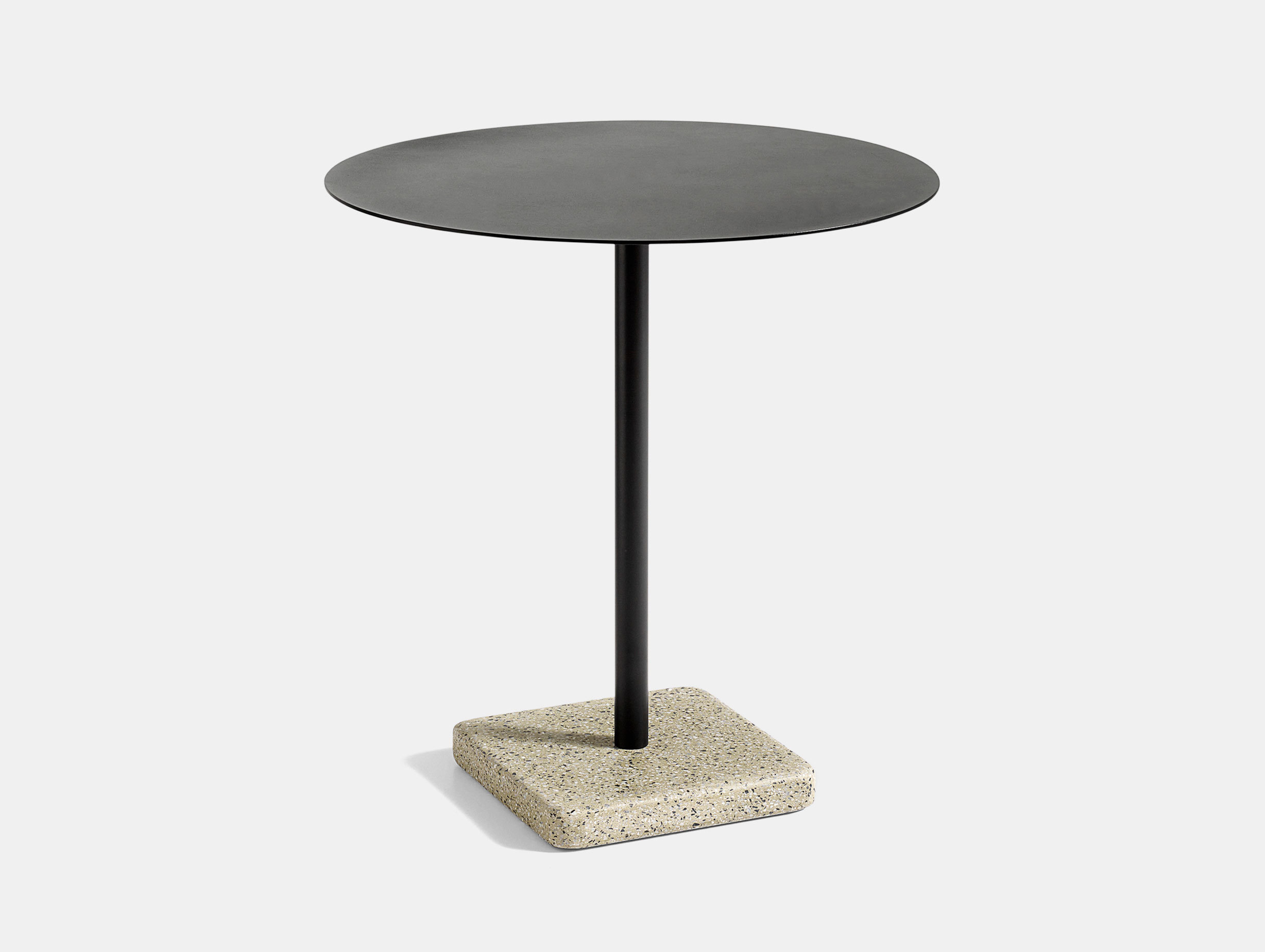 Hay Terrazzo Table Round Yellow Base Charcoal Top Daniel Enoksson