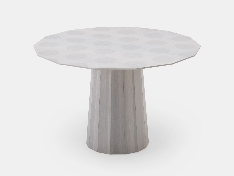 Karimoku Colour Wood Dining Table Gray Dot 120 Scholten Baijings