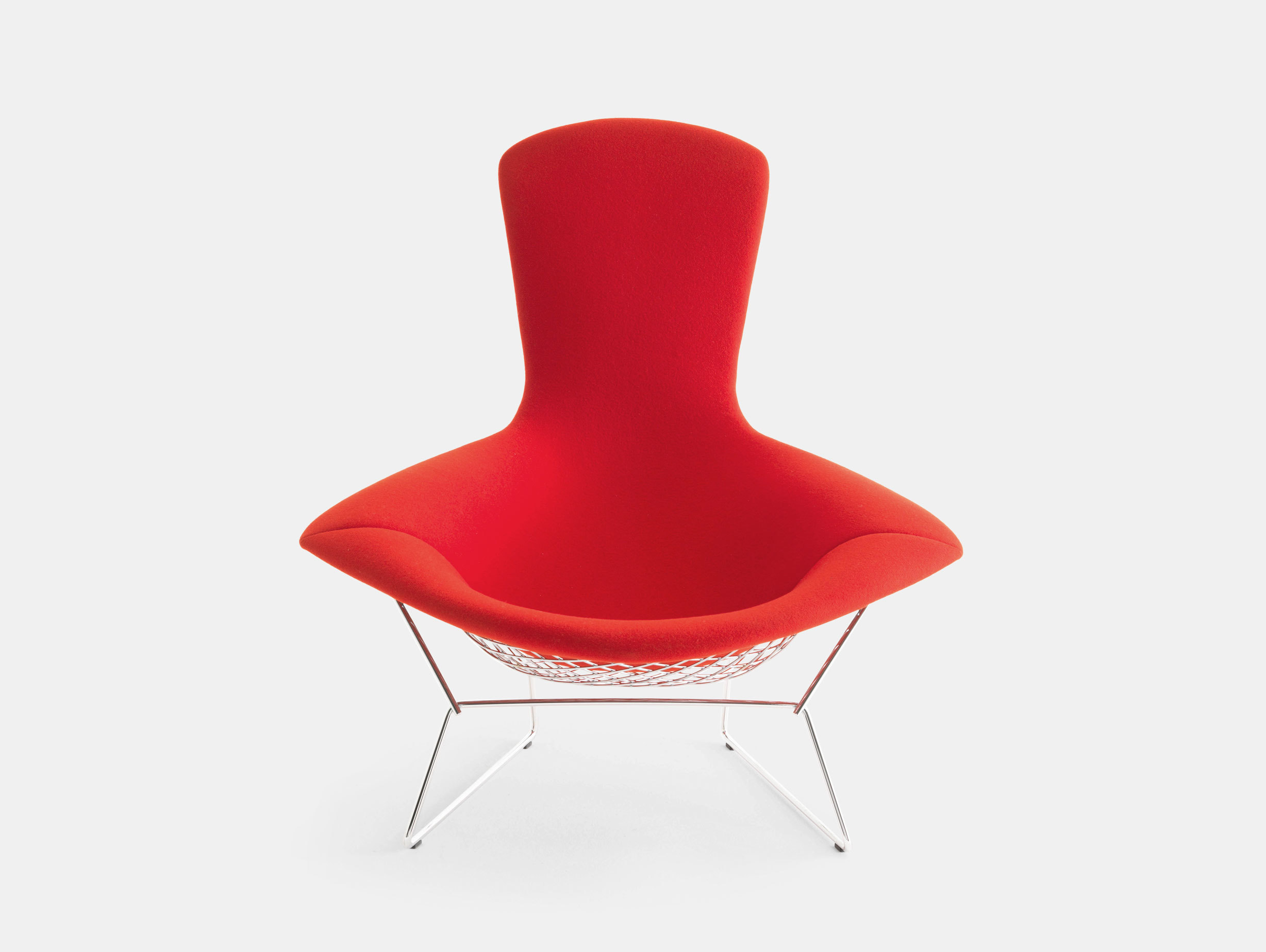 Knoll Harry Bertoia Bird Chair Red Front