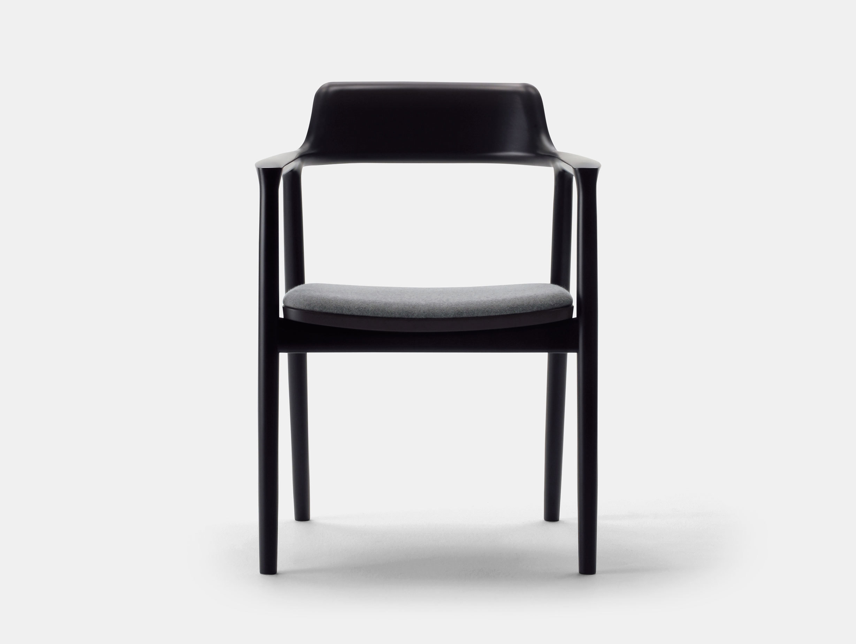 Maruni Hiroshima Armchair Beech Mat Black Fabric Naoto Fukasawa