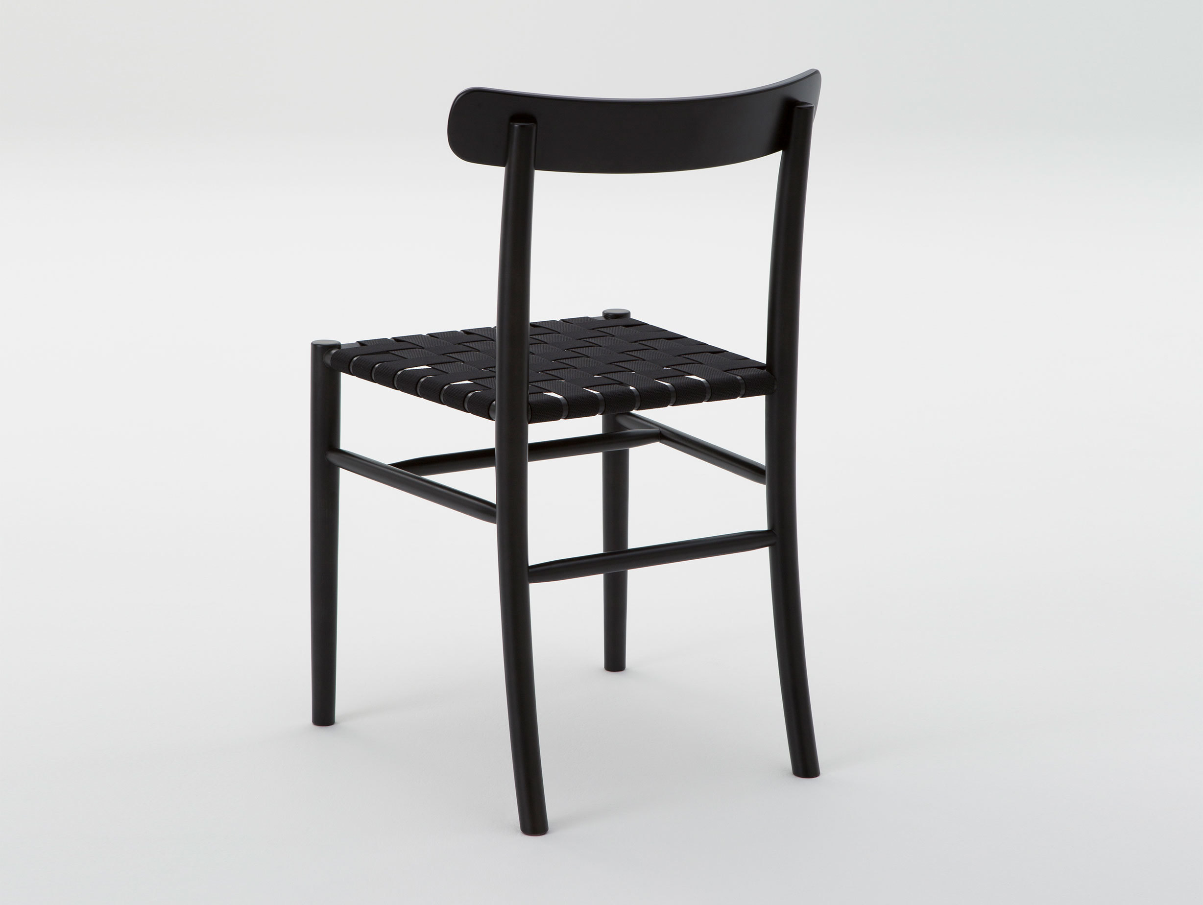 Maruni Lightwood Chair Maple Black Webbing Seat
