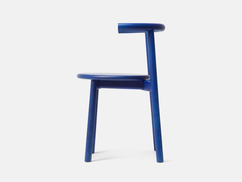 Mattiazzi Solo Chair Blue Ash Side Studio Nitzan Cohen