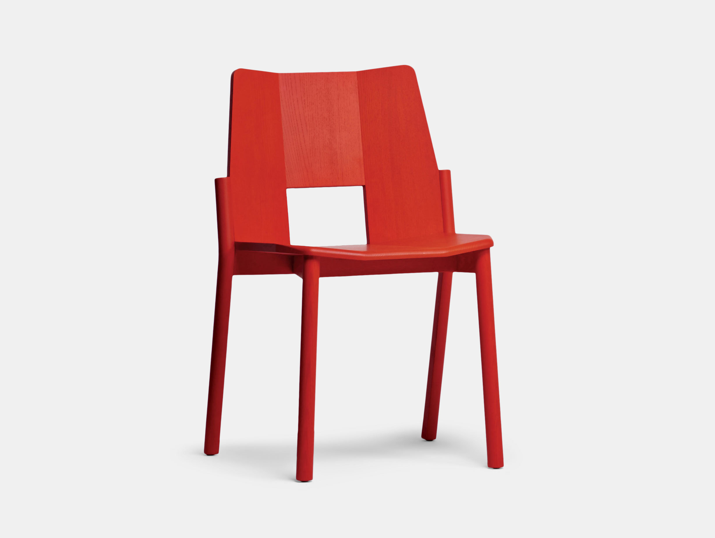 Mattiazzi Tronco Chair Red Industrial Facility