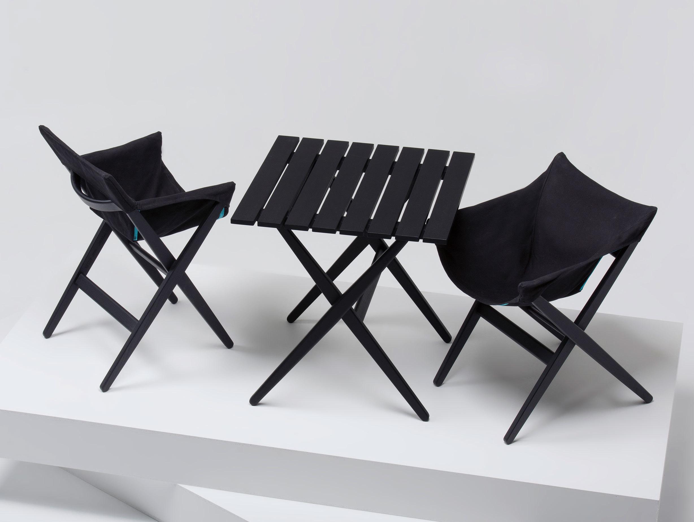 Mattiazzi Fionda Side Chairs Black Table Jasper Morrison