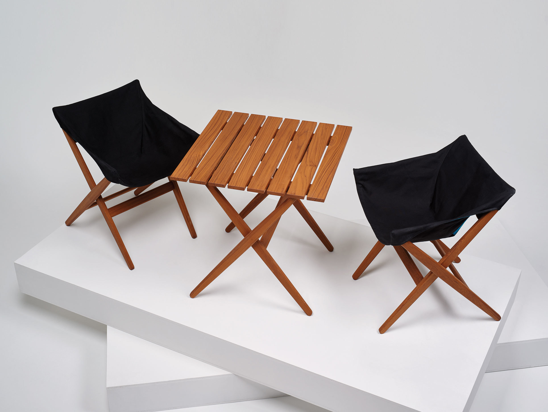 Mattiazzi Fionda Side Chairs Outdoor Teak Jasper Morrison
