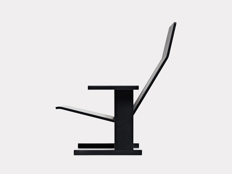 Mattiazzi Quindici Lounge Chair Black Side Ronan Erwan Bouroullec