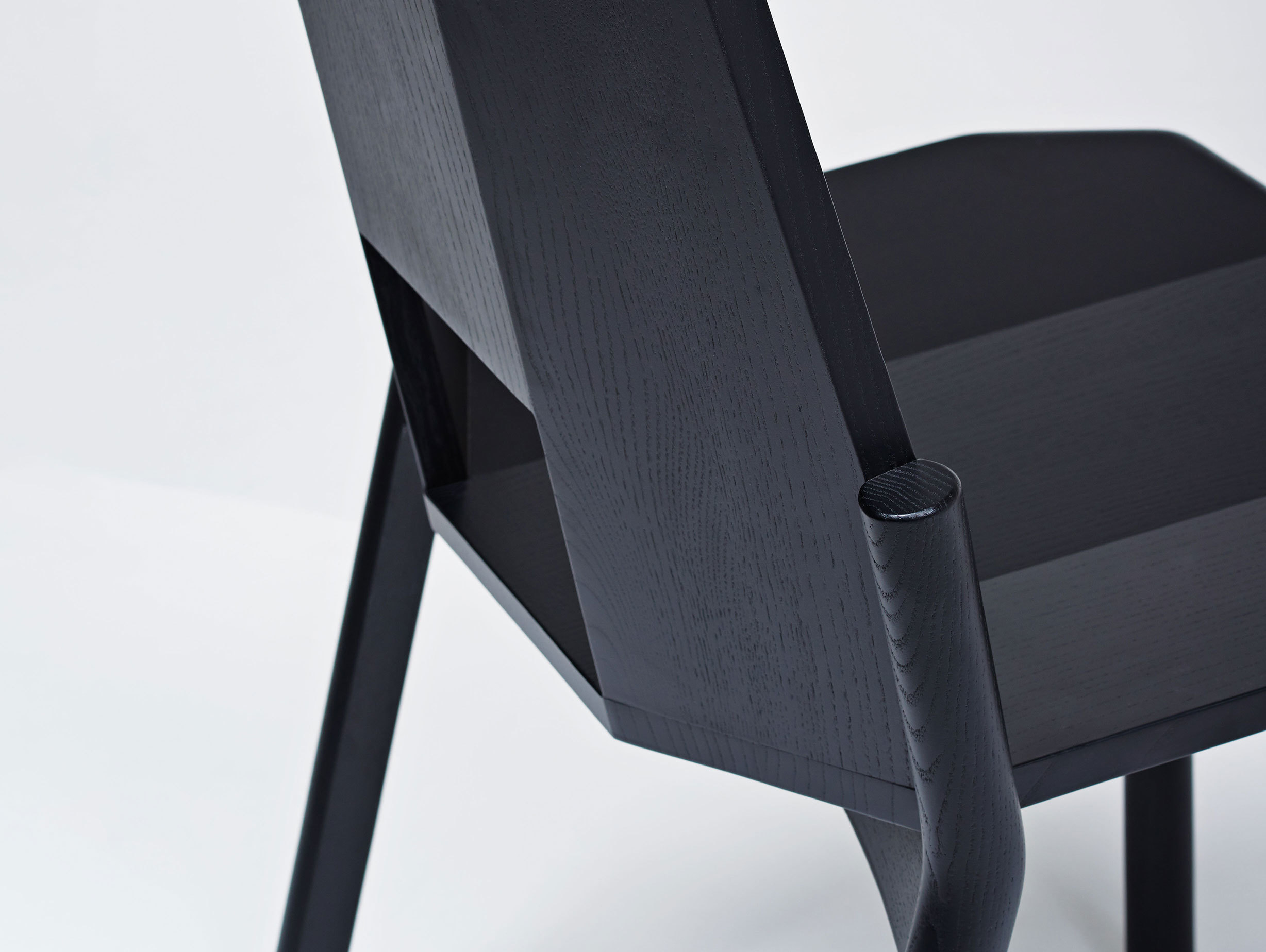 Mattiazzi Tronco Chair Black Detail Industrial Facility