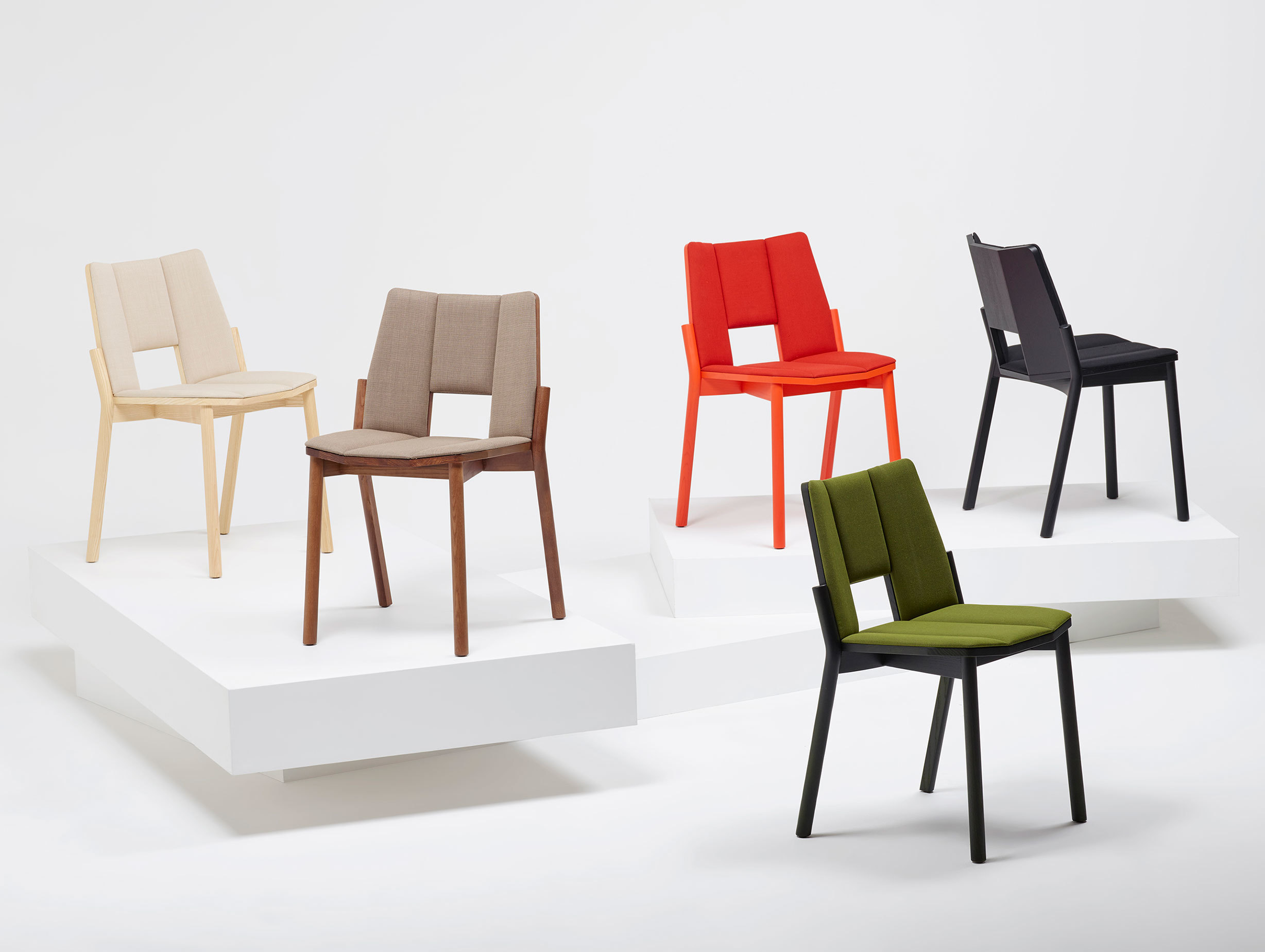 Mattiazzi Tronco Chairs Upholstered Industrial Facility