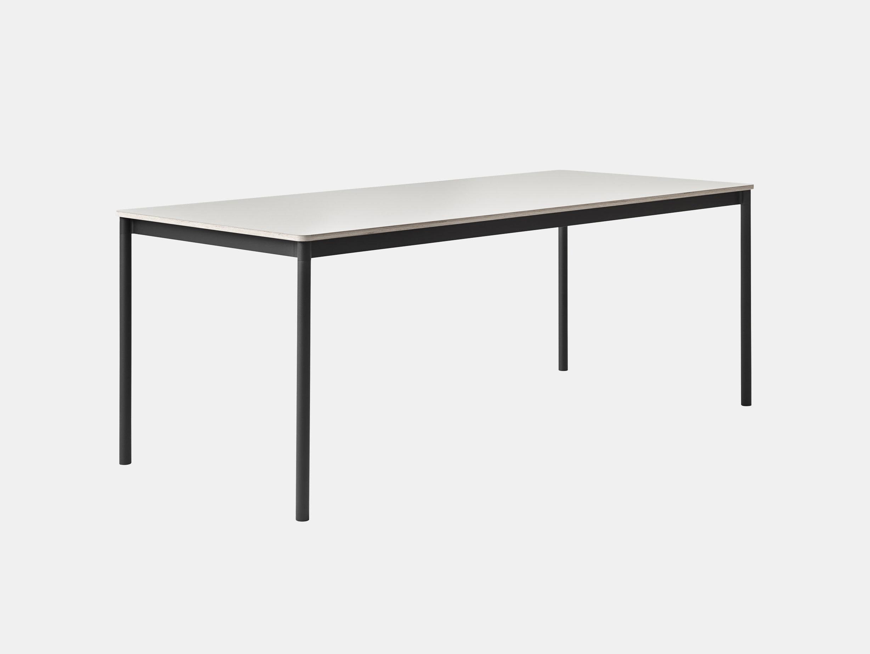 Muuto Base Table Black Frame White Top Mika Tolvanen