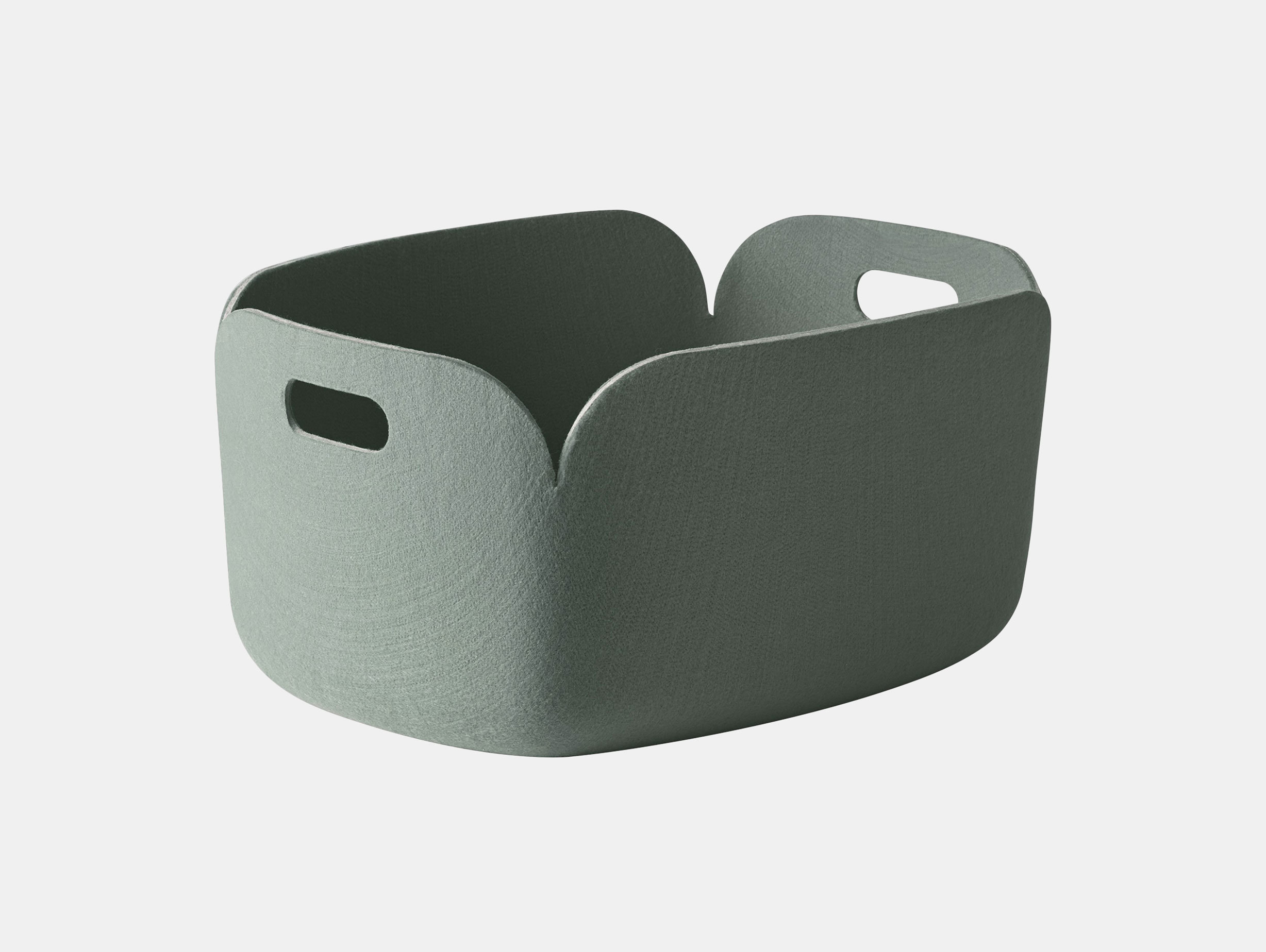 Muuto Restore Basket Dusty Green Mika Tolvanen