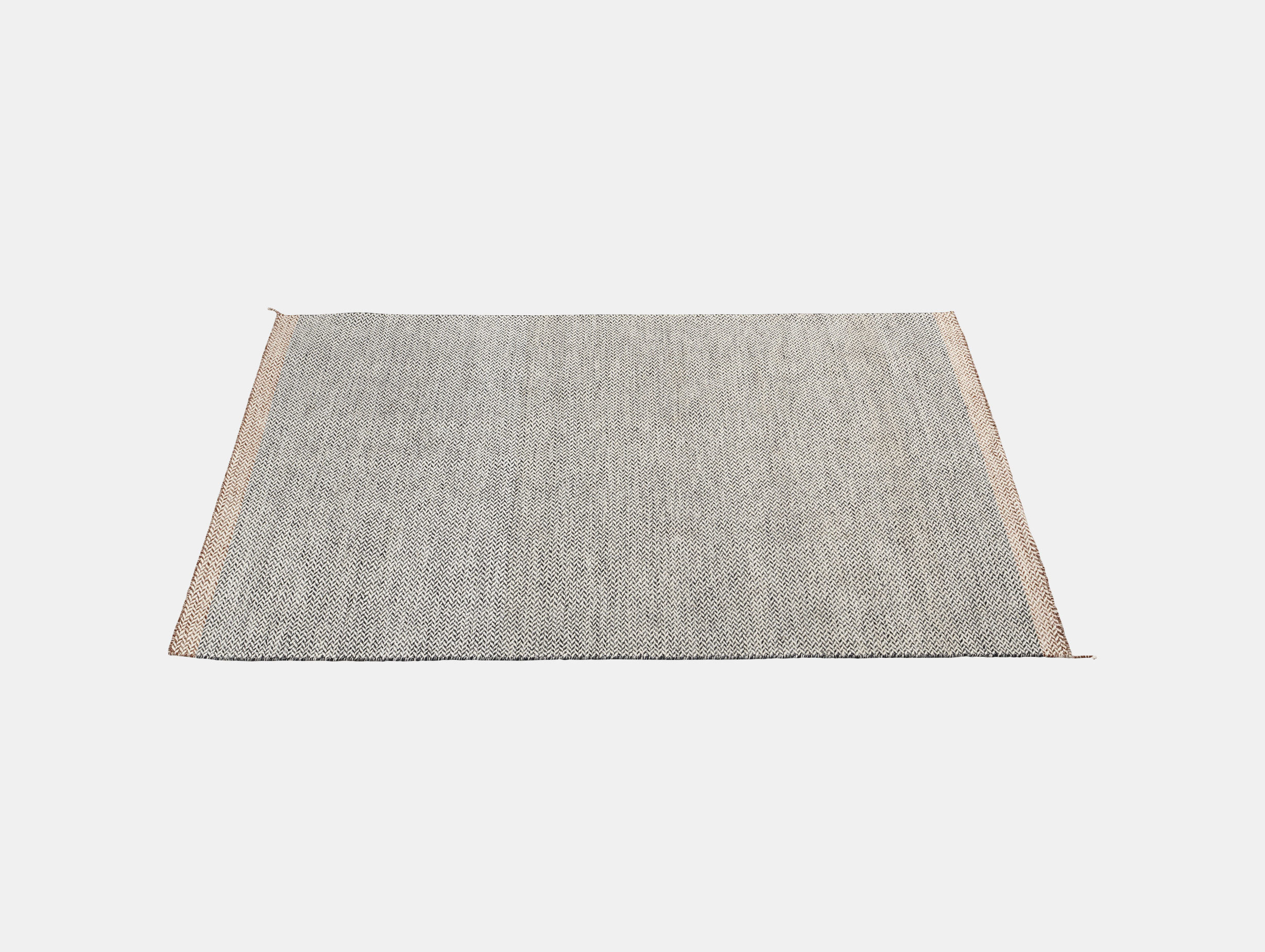 Ply Rug Black White 170X240 Med Res