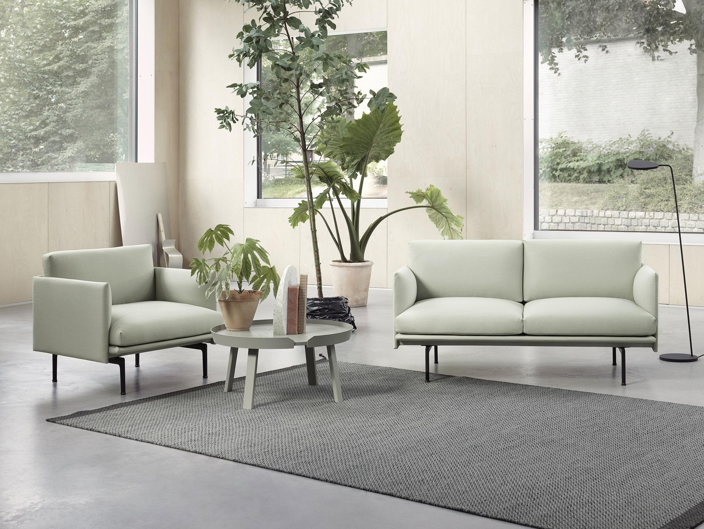 Outline Studio Chair Sofa Around Leaf Floor Lamp Ply Rug 2