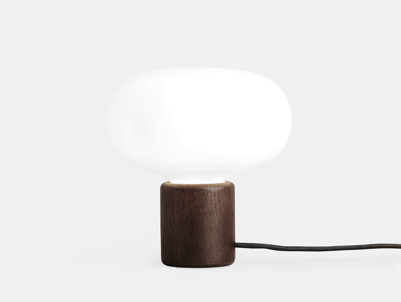 New Works Karl Johan Table Lamp Smoked Oak Signe Hytte