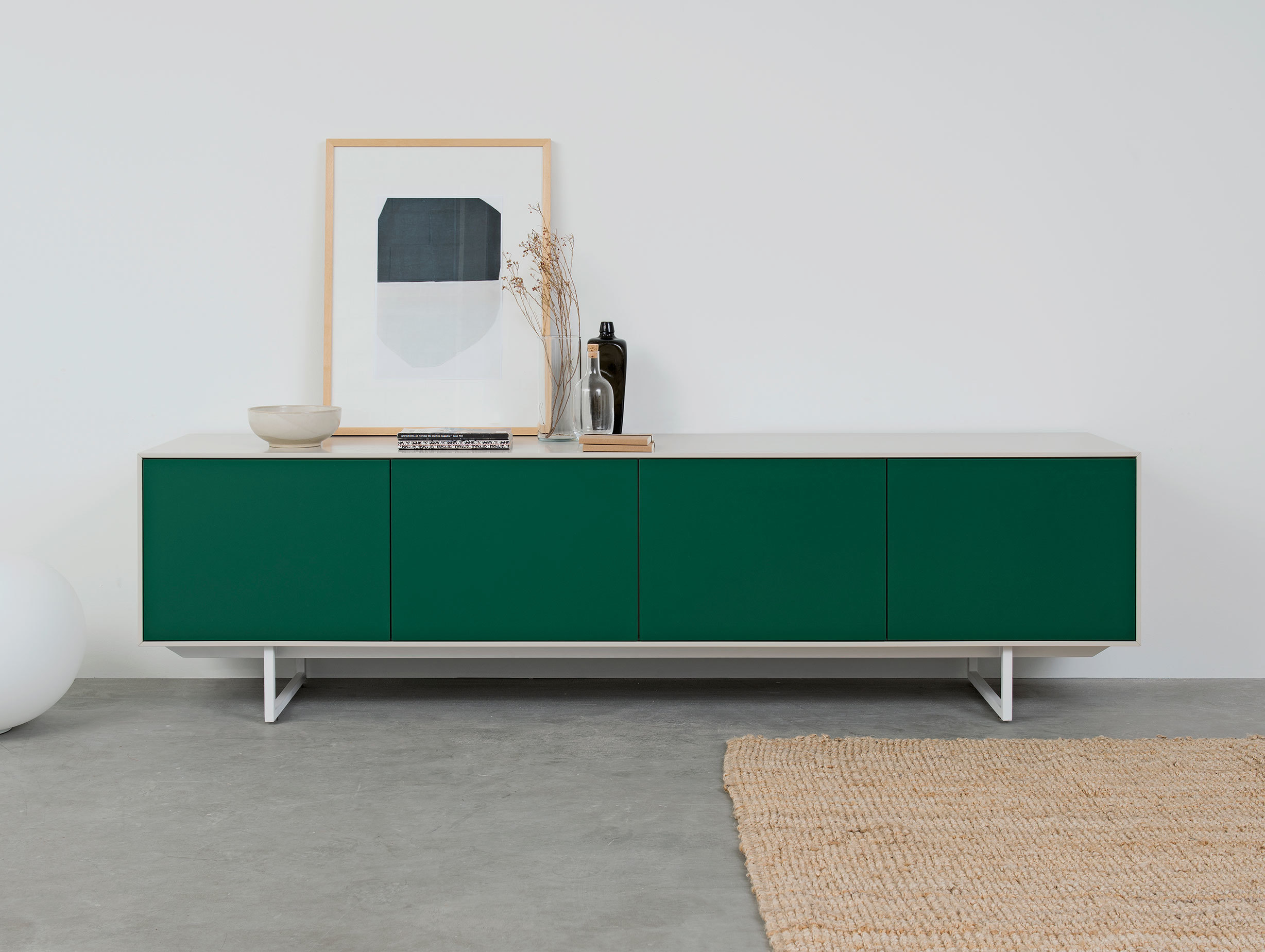 Pastoe Noon Sideboard White Green