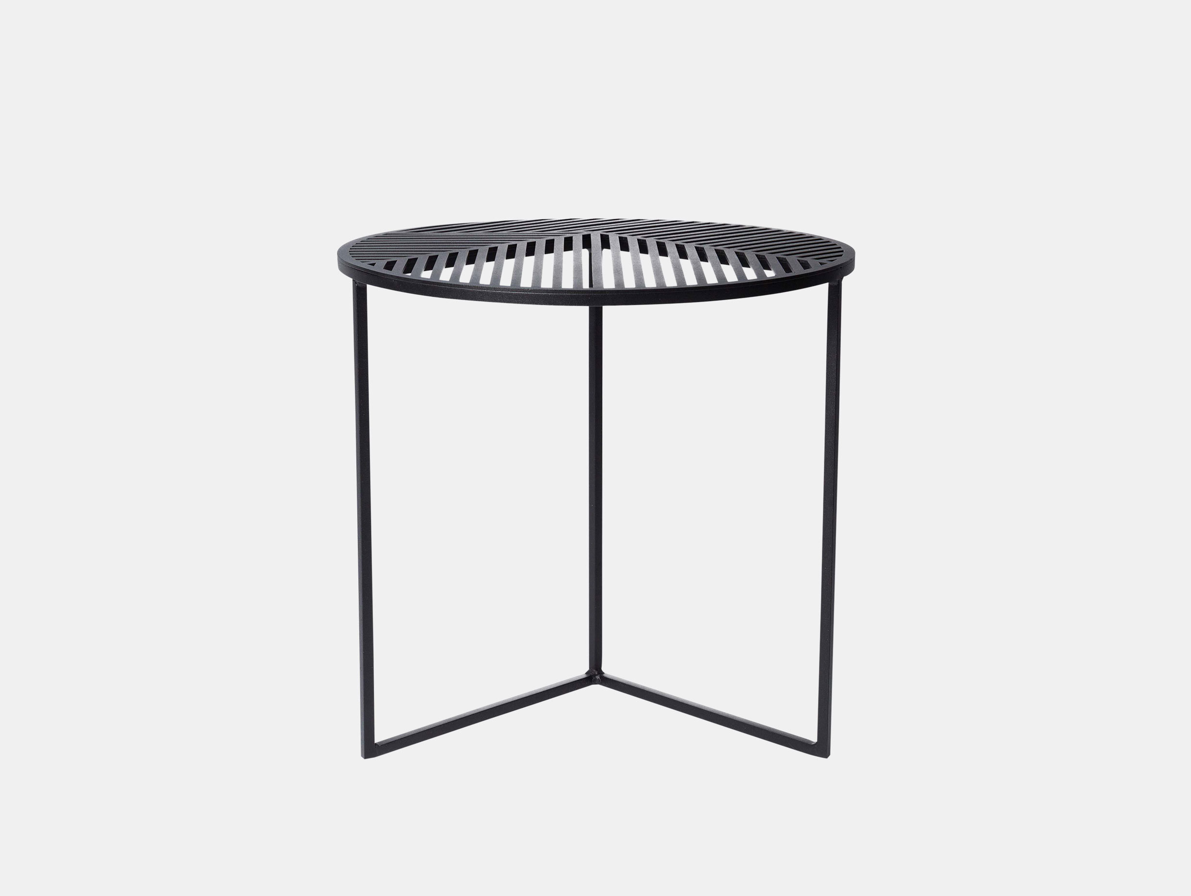 Petite Friture Iso Side Table Round Black Pool