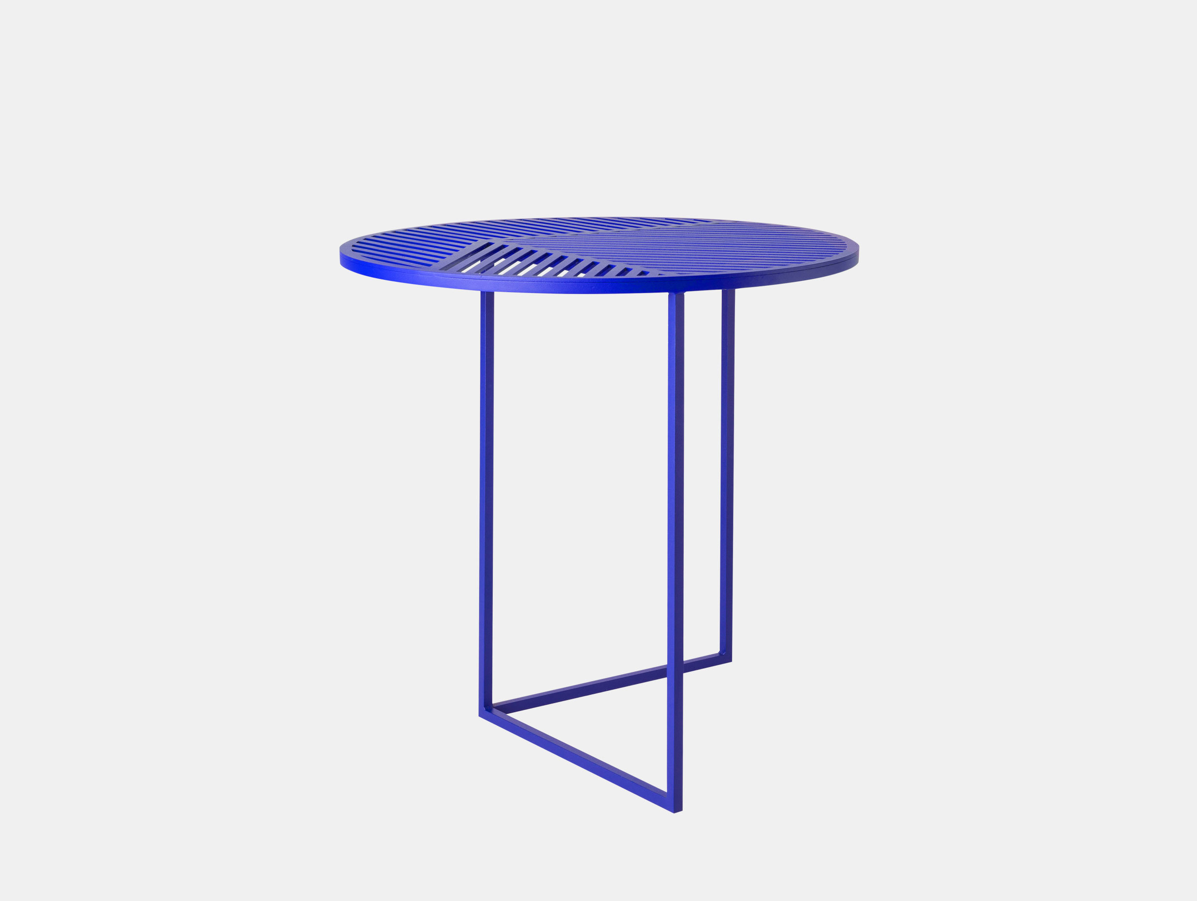 Petite Friture Iso Side Table Round Blue Pool