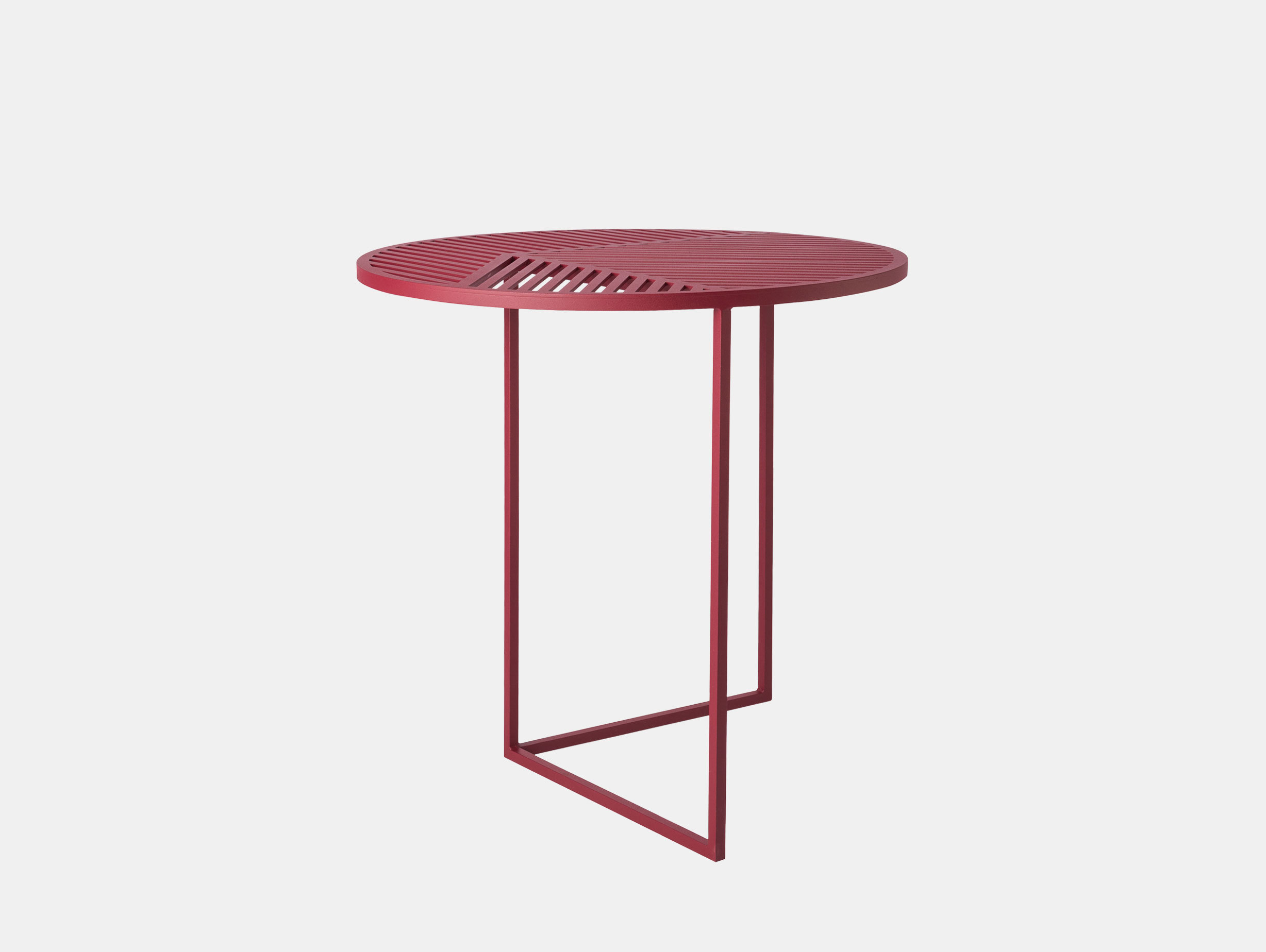 Petite Friture Iso Side Table Round Red Pool