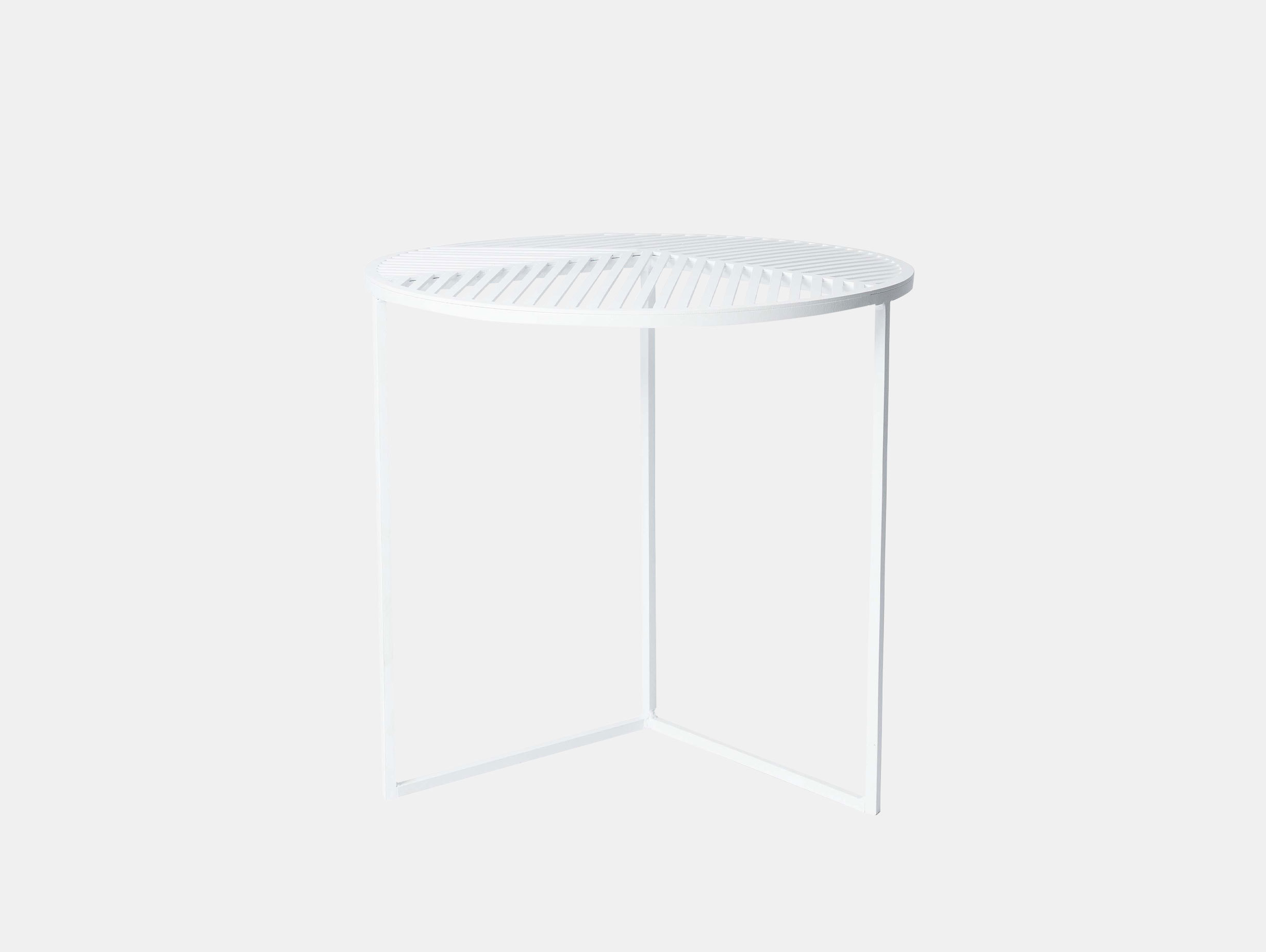 Petite Friture Iso Side Table Round White Pool