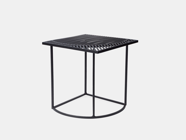 Petite Friture Iso Side Table Square Black Pool