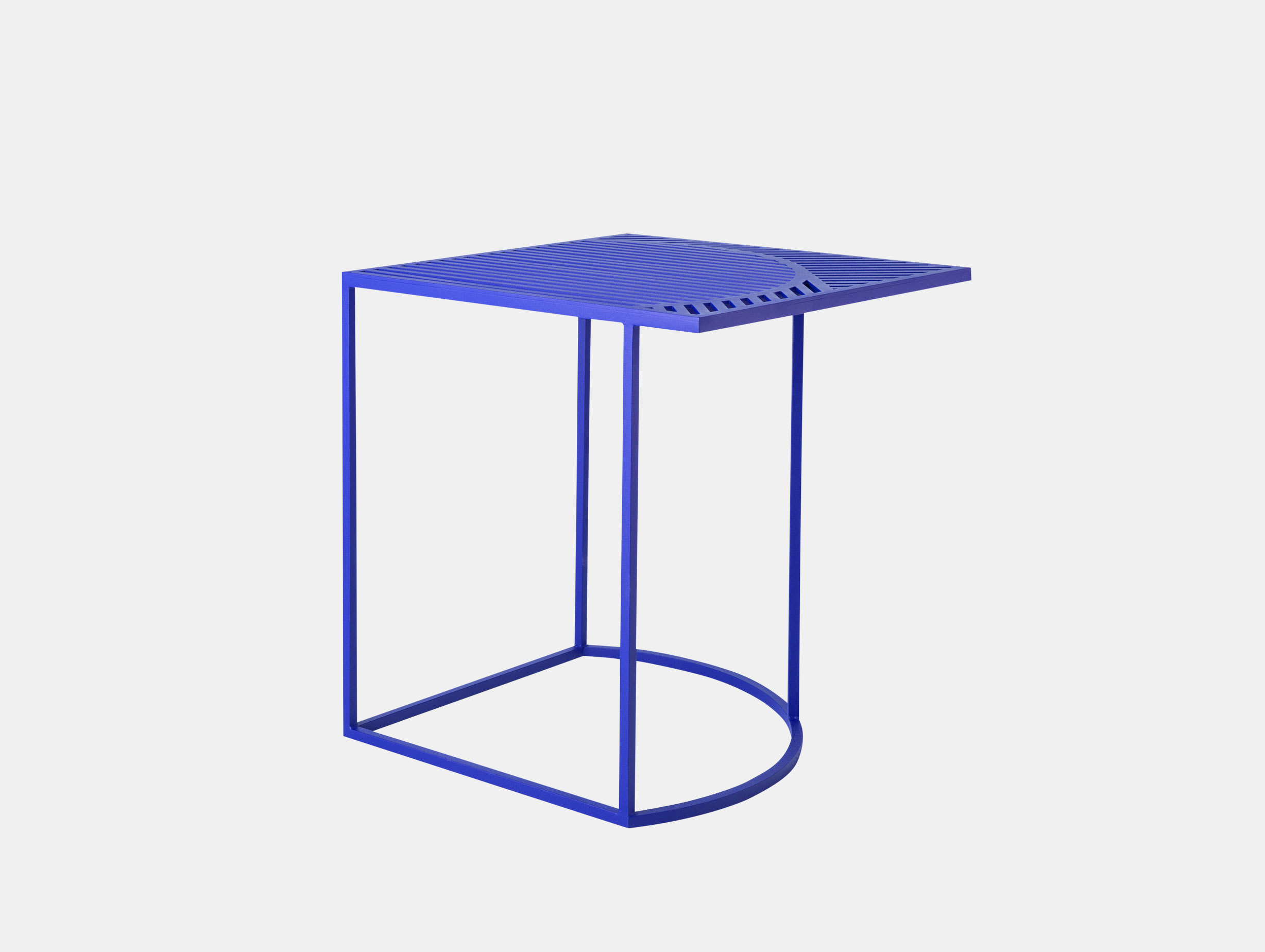 Petite Friture Iso Side Table Square Blue Pool