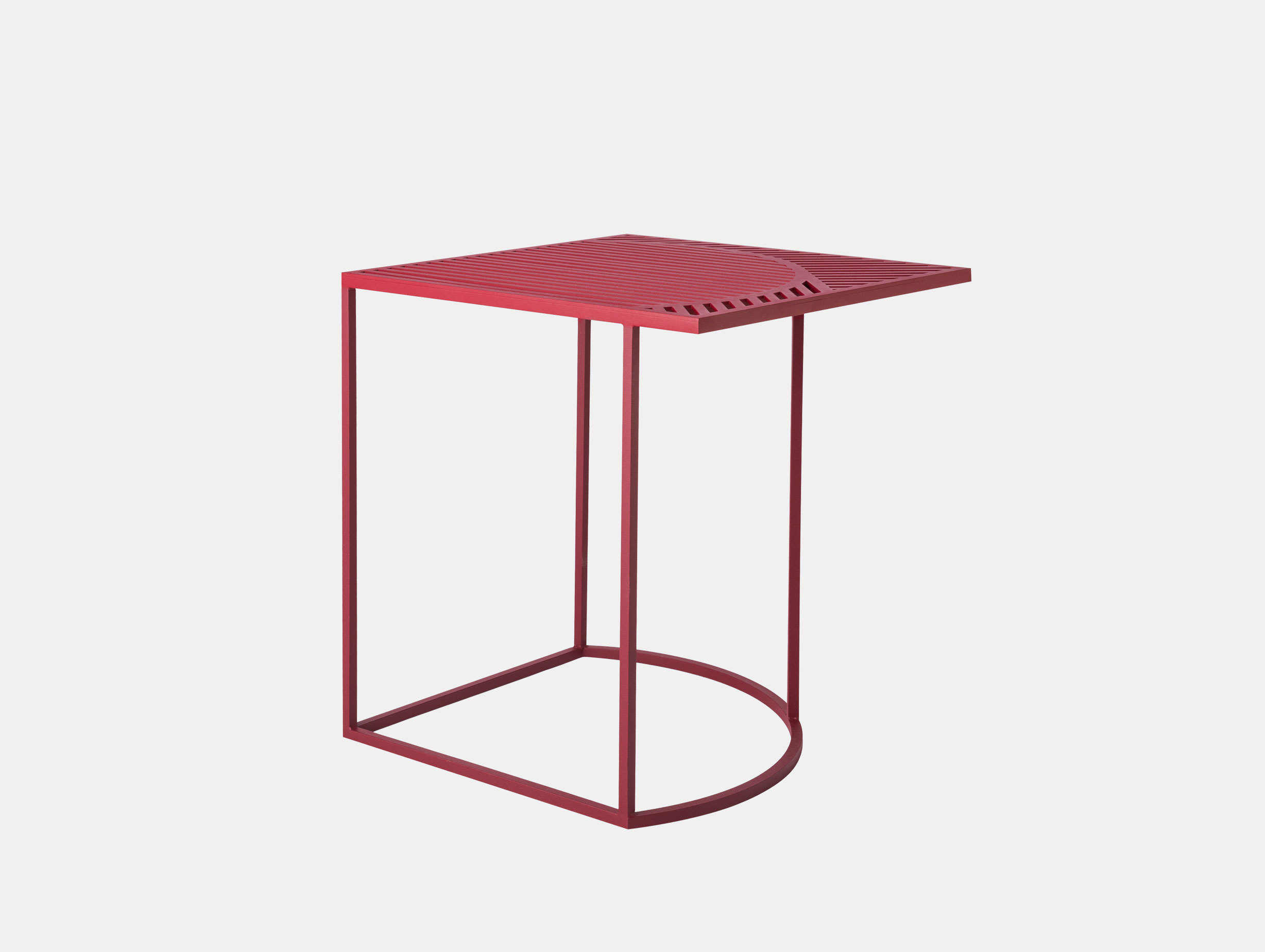 Petite Friture Iso Side Table Square Red Pool