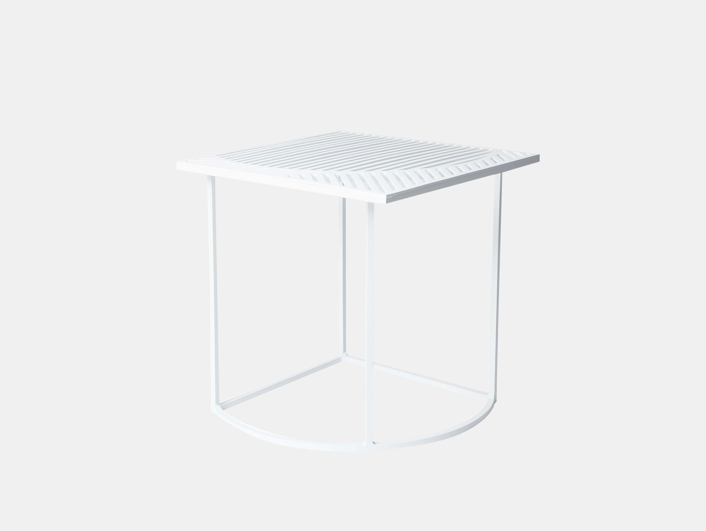 Petite Friture Iso Side Table Square White Pool
