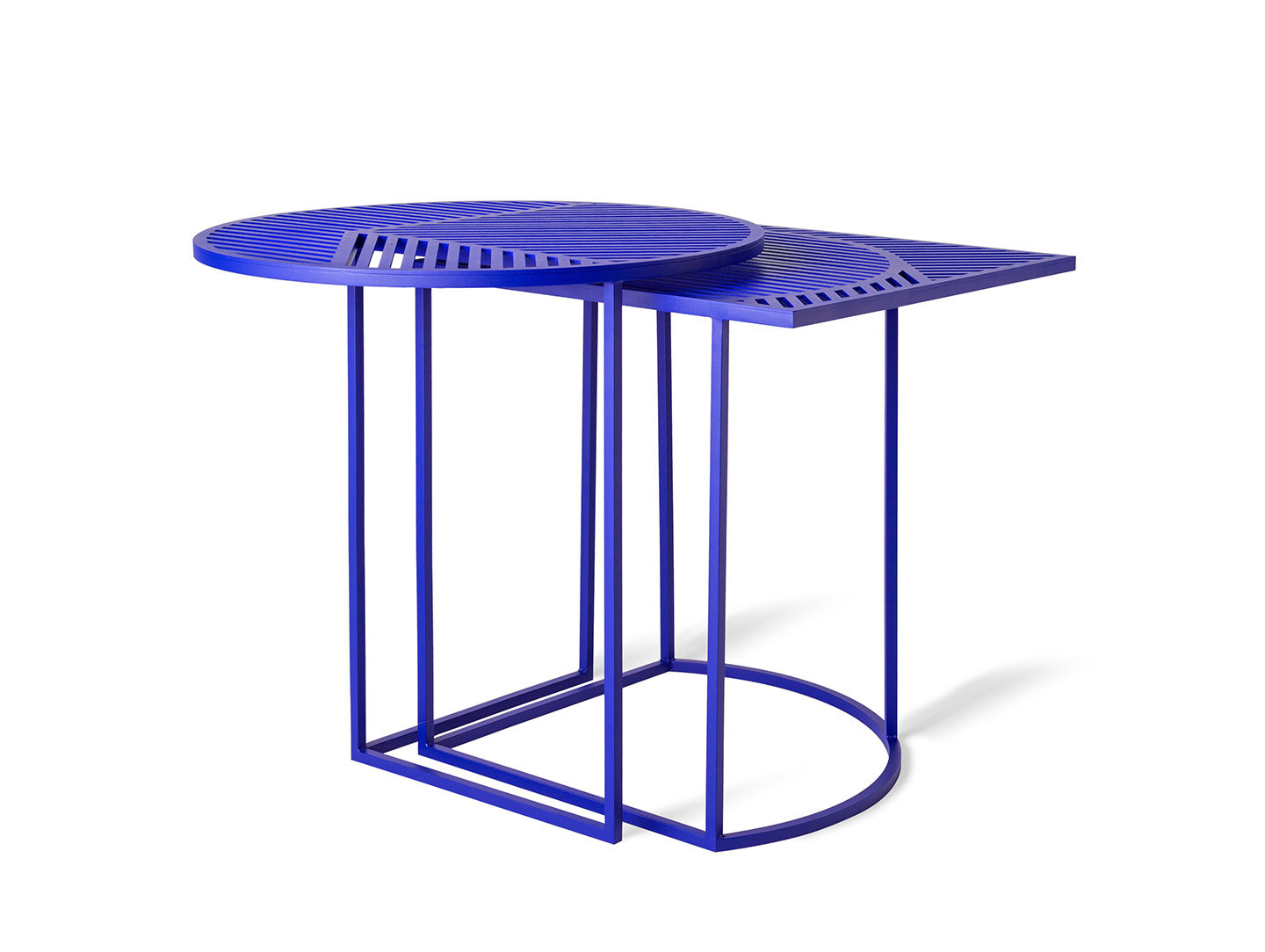 Petite Friture Iso Side Tables Blue Pool