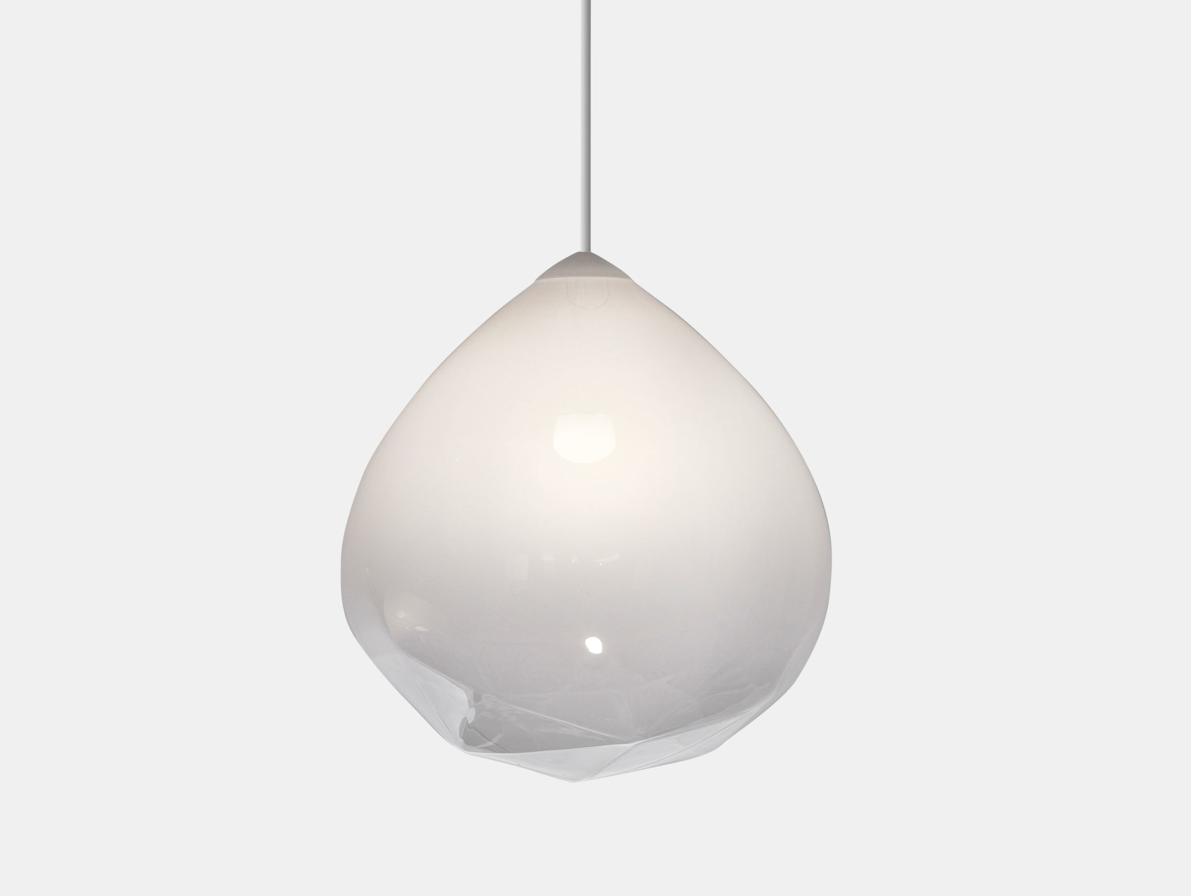 Resident Parison Pendant Light White Cheshire Architects