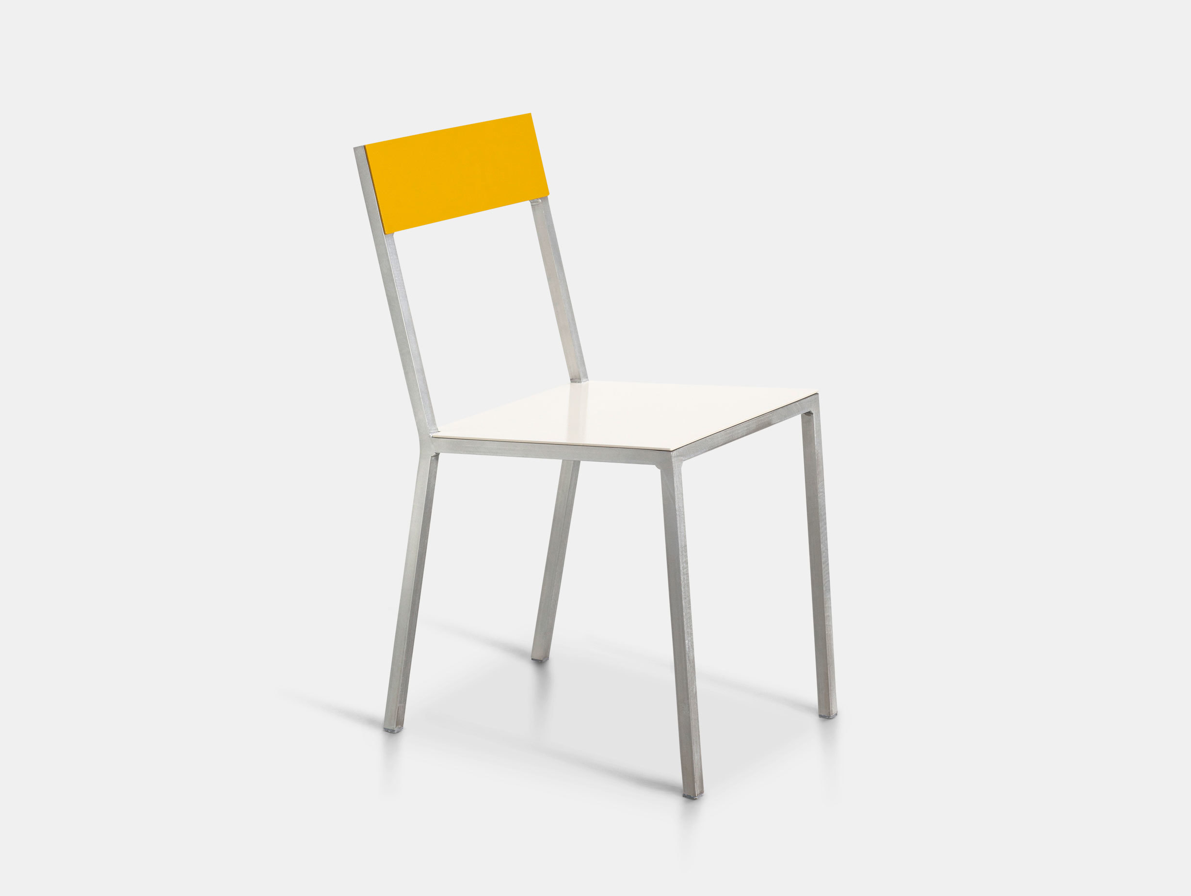 Valerie Objects Alu Chair Seatwhite Backyellow Muller Van Severen