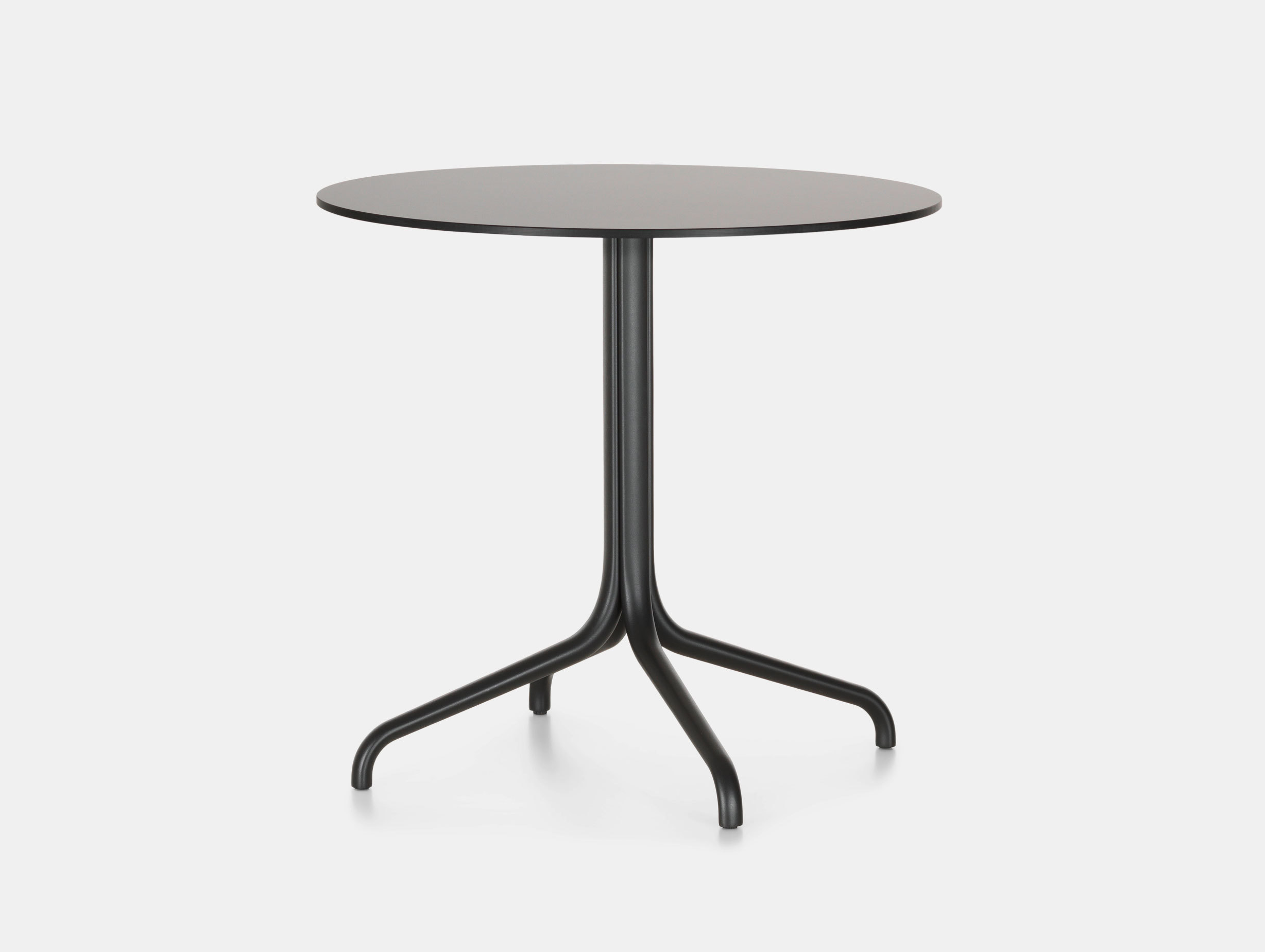 Vitra Belleville Outdoor Table Round Black Ronan Erwan Bouroullec