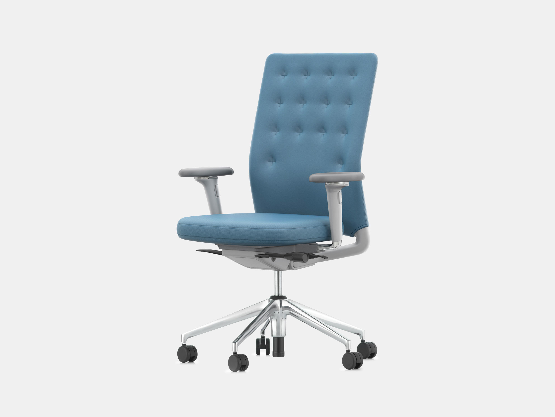 Vitra Id Trim Office Chair Blue Antonio Citterio