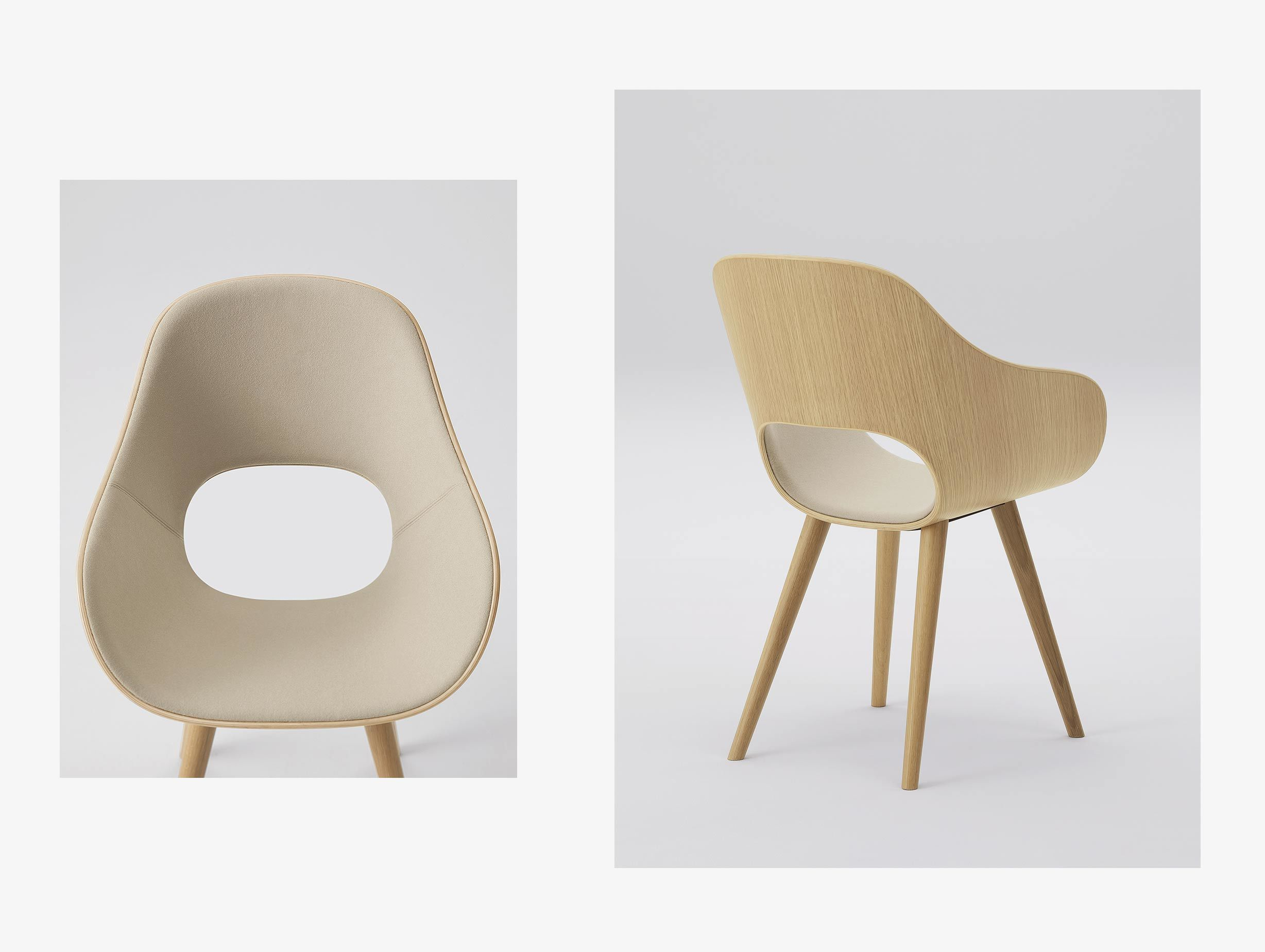 Maruni Roundish Chair Upholstered