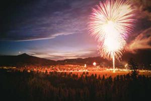 Fireworks In Big Sky Town Center   Photo: Chris Kamman