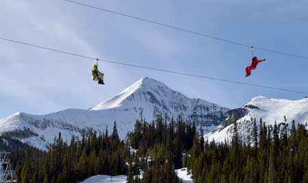 Zip Lining At Big Sky Resort | Photo Glenniss Indreland