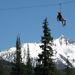 Zipline at Big Sky Resort | Glenniss Indreland