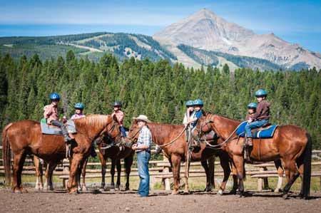 Kids Horseback Riding | Photo: Lone Mountain Ranch
