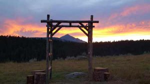 Sunset in Big Sky | Photo Credit: Lone Mountain Ranch
