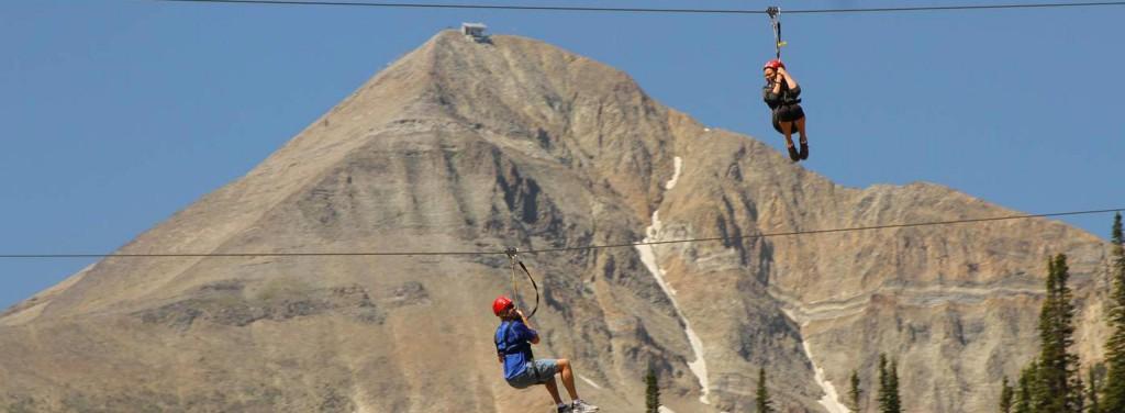 Ziplining at Big Sky Montana