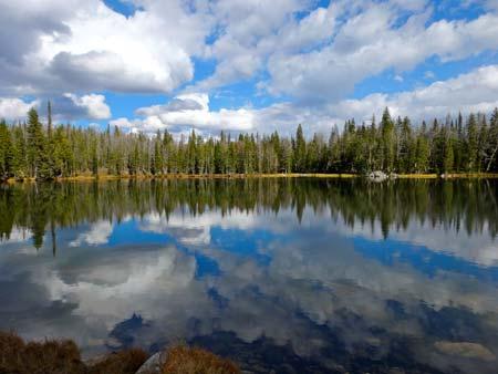 alpine lake gallatin range montana