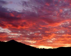 Sunset Behind Lone Mountain | Photo Credit: Arts Council Of Big Sky