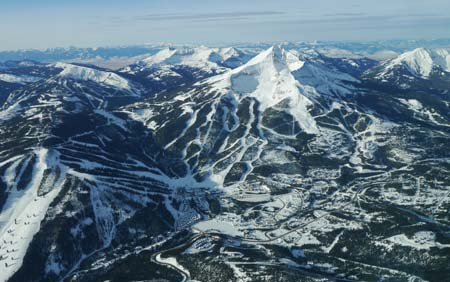 Big Sky Resort From Air